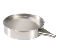 Sieve pan, 200x50 mm 1.4301 with outlet